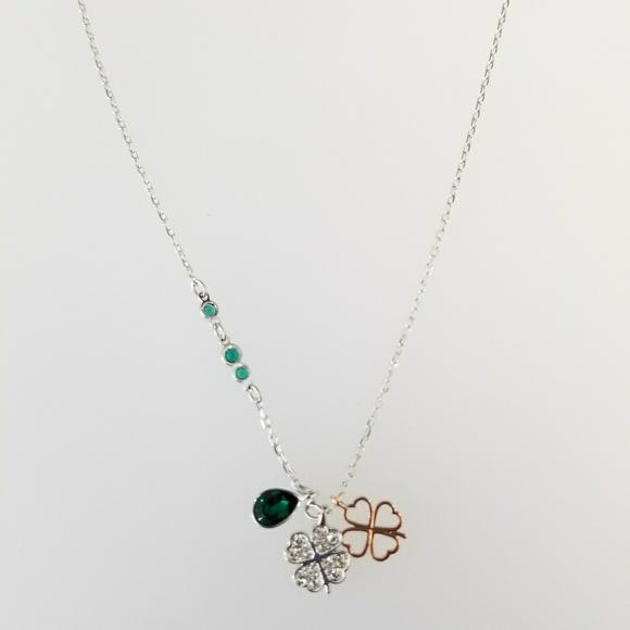 cc71b6830 Swarovski Jewelry | Duo Clover Pendant 5139471 Necklace | Poshmark